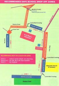 Traffic Plan for Scoil Mhuire Abbeyside